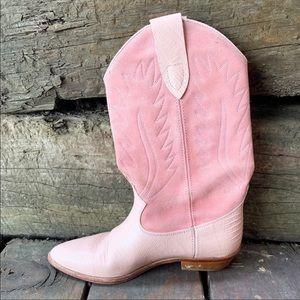 Brass Plum Shoes - EUC PINK BRASS PLUM COWBOY BOOTS SZ 7